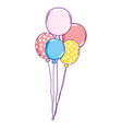 party balloons helium floating vector image vector image