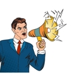 Pop art boss business leader and megaphone vector image vector image