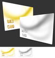 Premium user member card template collection vector image vector image
