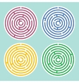 Round maze set vector image vector image