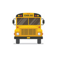 school bus front view vector image vector image