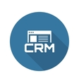 Shop CRM System Icon Flat Design vector image vector image