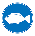Sign of fishing allowed vector image