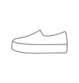 Slipon shoe vector image vector image