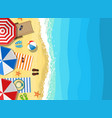 summer beach vacation sunbed vector image