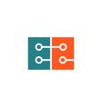 technology digital letter e logo template icon vector image vector image
