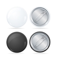 Template Blank Circle Button Badge Pin Set vector image