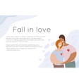 template site banner with lgbt happy couple vector image
