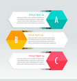 three steps colorful infographics template vector image vector image