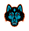 timber wolf head sports mascot vector image vector image