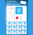 triangular desk calendar planner for 2017 year vector image