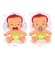 two bain diapers vector image