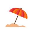 umbrella beach summer stuff icon design vector image vector image
