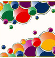 varicoloured circles background vector image vector image