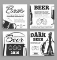 vintage beer banners template with bottles vector image vector image