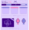 Website template with lilac vintage elements vector image vector image