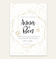 wedding invitation with small plants vector image