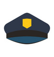 colorful silhouette with police cap vector image