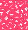 princess style cartoon pattern vector image