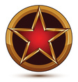 3d classic royal symbol sophisticated red star vector image vector image