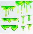 3d realistic green goo slime vector image