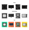 accessories and device icon vector image