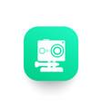 action camera icon pictogram vector image vector image