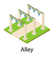 alley icon isometric style vector image