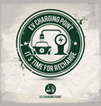 alternative ev charging point stamp vector image