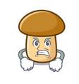 angry porcini mushroom mascot cartoon vector image vector image