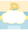background with teddy bear Kiss love space for vector image vector image