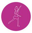 beautiful woman dancing vallet vector image