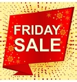 Big winter sale poster with FRIDAY SALE text vector image vector image