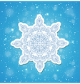 Blue Christmas background with snowflake vector image vector image