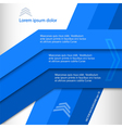 Blue lines background brochure cover page vector image