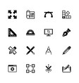 blueprint - flat icons vector image vector image