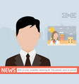 broadcast news media on television concept vector image