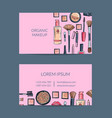 Business card template for beauty brand or