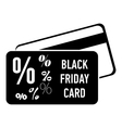 Card discounts black friday icon simple style vector image vector image