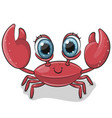 cartoon crab isolated on a white background vector image vector image