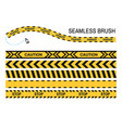 caution police tapes seamless brush stop yellow vector image