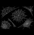 collection of cobweb isolated on black vector image vector image