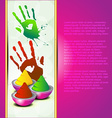 colorful holi background vector image
