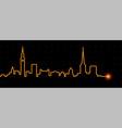copenhagen light streak skyline vector image vector image