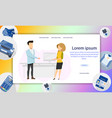 couple of freelance character standing talking vector image vector image