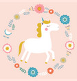cute magical unicorn vector image vector image