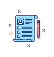 cv concept icon vector image
