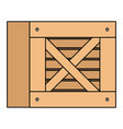 delivery wooden box icon vector image