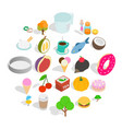 dulcet dessert icons set isometric style vector image vector image
