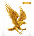 eagle gold emblem 3d icon vector image